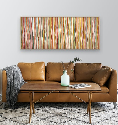 (CreativeWork) Citrus Yarrabee - 152 x 61cm - acrylic on canvas by George Hall. Acrylic. Shop online at Bluethumb.