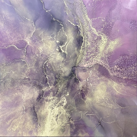 (CreativeWork) Orchid Tides by Martine Vanderspuy. Mixed Media. Shop online at Bluethumb.