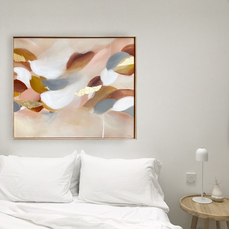 (CreativeWork) Dolphins Wake by Marnie McKnight. Acrylic Paint. Shop online at Bluethumb.