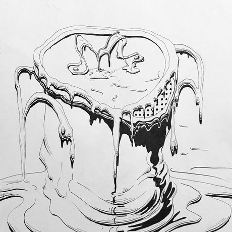 (CreativeWork) Dripping Pot by Brad Holland. Drawing. Shop online at Bluethumb.