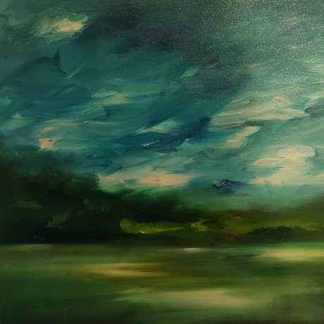 (CreativeWork) Harbour Blur by Alice Howell. Oil. Shop online at Bluethumb.