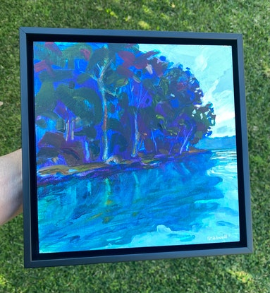 (CreativeWork) Can't Help Myself  (FRAMED) by Kate Gradwell. Acrylic. Shop online at Bluethumb.