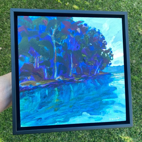 (CreativeWork) Can't Help Myself  (FRAMED) by Kate Gradwell. Acrylic Paint. Shop online at Bluethumb.