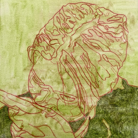 (CreativeWork) figure in green by Ray David. Mixed Media. Shop online at Bluethumb.