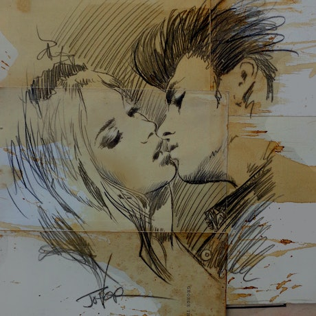 (CreativeWork) STUDY SKETCH FOR YOUNG RASCALS by loui jover. Mixed Media. Shop online at Bluethumb.