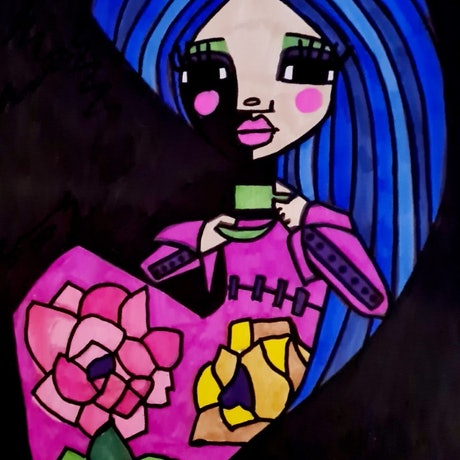 (CreativeWork) Tea and Sympathy by jane ruggiero. Drawings. Shop online at Bluethumb.
