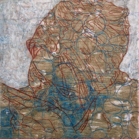 (CreativeWork) figure in blue by Ray David. Mixed Media. Shop online at Bluethumb.