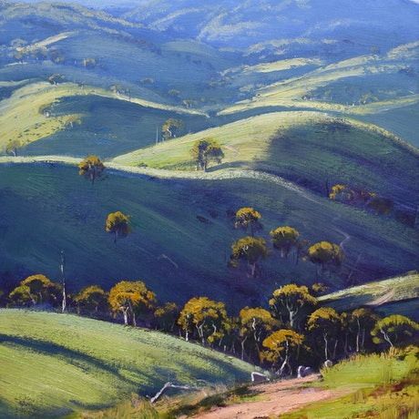 (CreativeWork) After the Drought, Bathurst by Graham Gercken. Oil Paint. Shop online at Bluethumb.