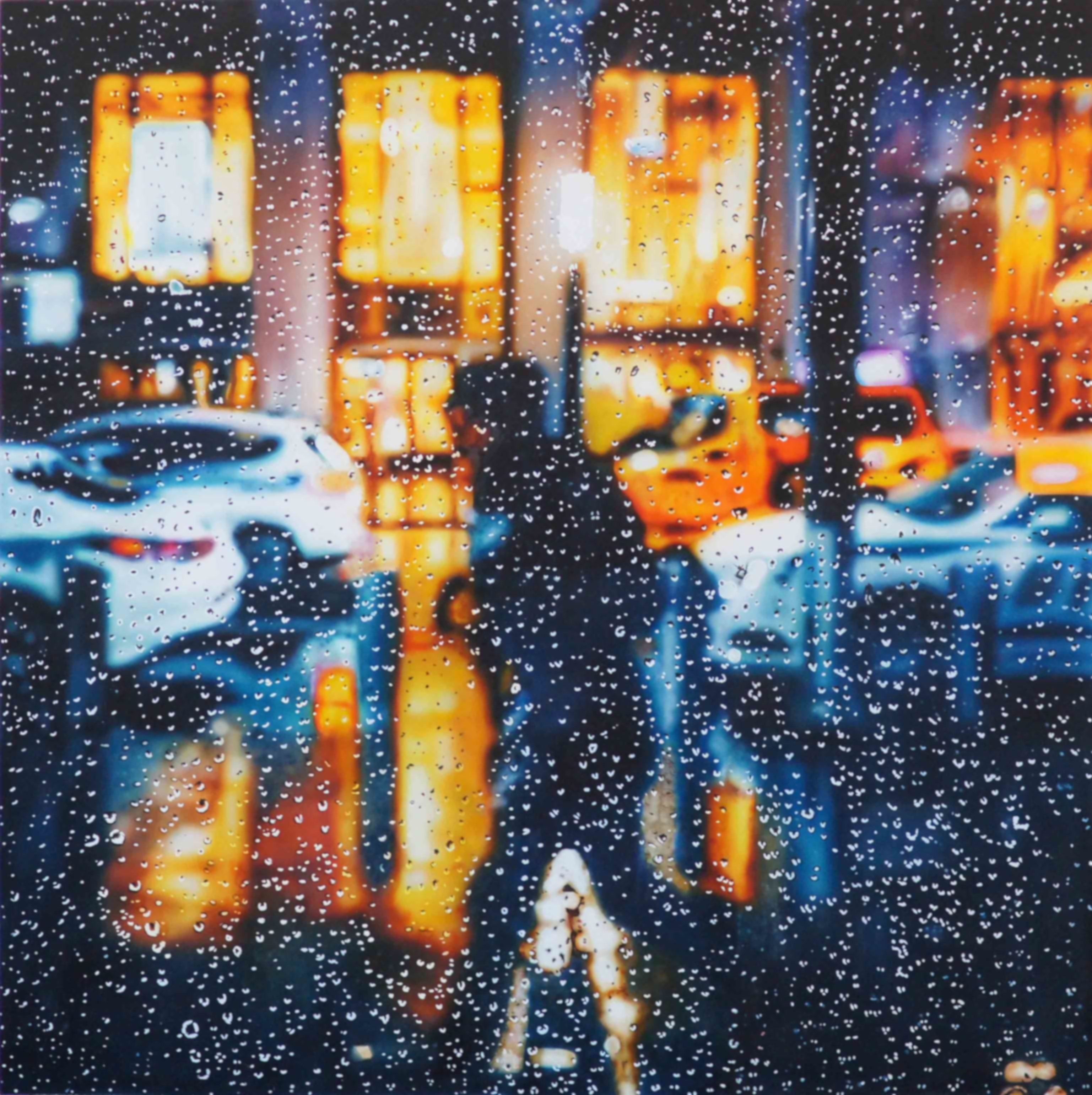 (CreativeWork) Passing Stranger by Todd Simpson. Acrylic Paint. Shop online at Bluethumb.