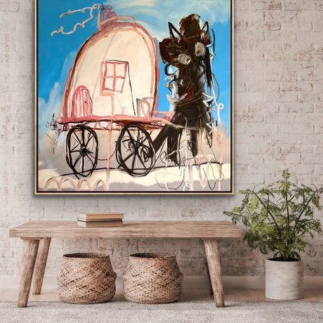 (CreativeWork) Caravan of Courage   by Shane Bowden. Mixed Media. Shop online at Bluethumb.
