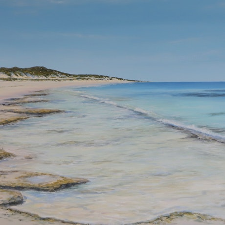 (CreativeWork) Beach Day  by Ann Steer. Acrylic. Shop online at Bluethumb.