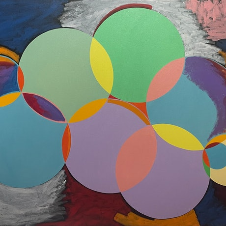(CreativeWork) Great balls of fire by Will Dickerson. Oil. Shop online at Bluethumb.