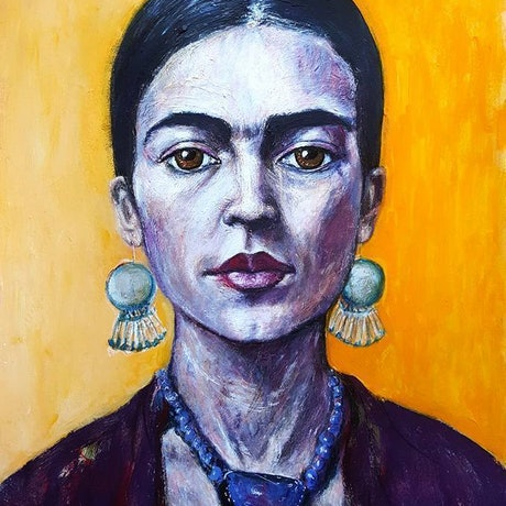 (CreativeWork) Fabulous Frida Limited Edition Giclee Fine Art Print          by Tanya Cole. Print. Shop online at Bluethumb.