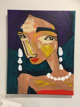 (CreativeWork) The Prussian Princess, Prunella Pomegranate.   by Kate Rogers. Mixed Media. Shop online at Bluethumb.