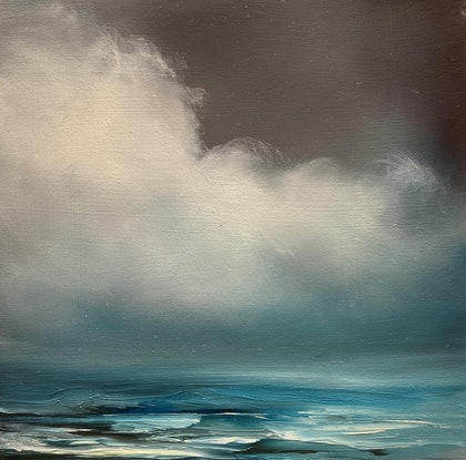 (CreativeWork) Morning Blues 2 by Elaine Green. Oil. Shop online at Bluethumb.