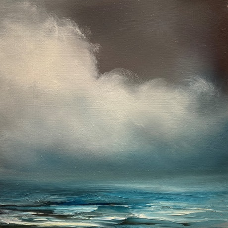 (CreativeWork) Morning Blues 2 by Elaine Green. Oil Paint. Shop online at Bluethumb.