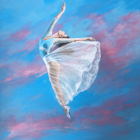 (CreativeWork) Freeing Up by Kathryn Johnston. Acrylic Paint. Shop online at Bluethumb.
