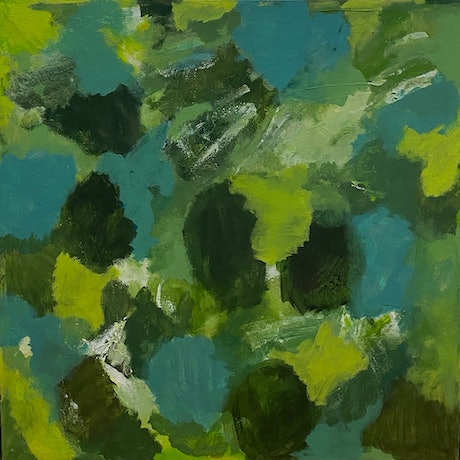 Abstract work in green tones