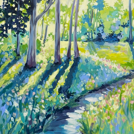 (CreativeWork) A Quiet Place by Clair Bremner. Acrylic. Shop online at Bluethumb.