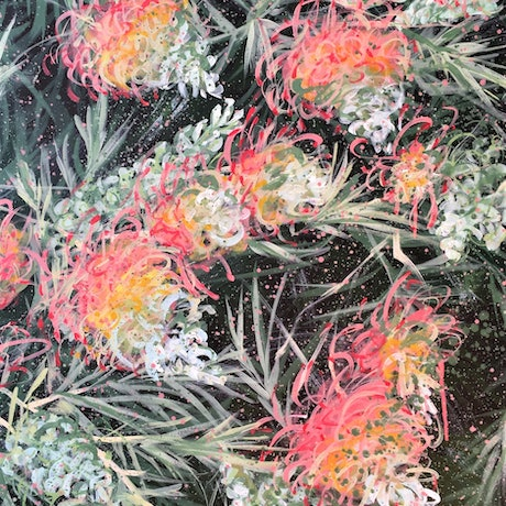 (CreativeWork) Courageous Love - Grevillea  - Ready to Hang by HSIN LIN. Acrylic Paint. Shop online at Bluethumb.