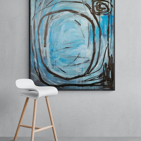 (CreativeWork) Moby Dick  by Alina Zorkina. Acrylic Paint. Shop online at Bluethumb.