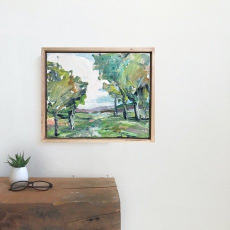 (CreativeWork) Daylesford  by Marnie McKnight. Oil Paint. Shop online at Bluethumb.