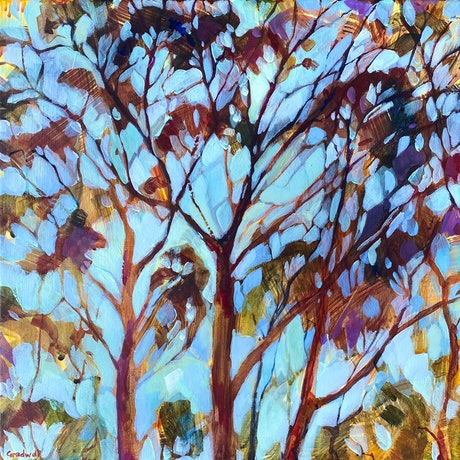 (CreativeWork) Feels Like Summer  by Kate Gradwell. Acrylic Paint. Shop online at Bluethumb.