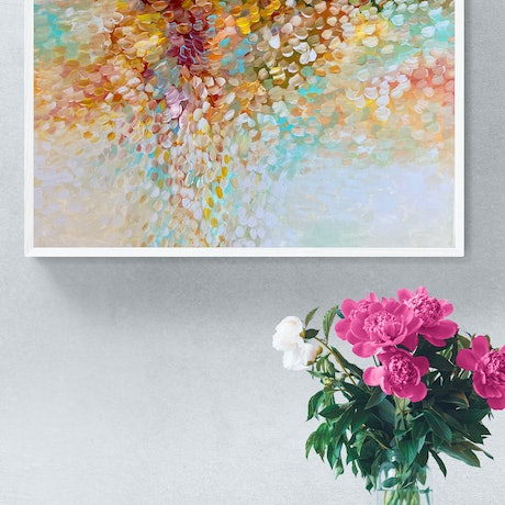(CreativeWork) Yours Always  by Theo Papathomas. Acrylic Paint. Shop online at Bluethumb.