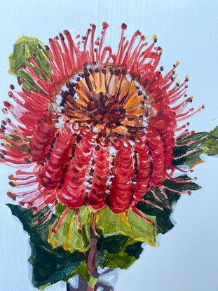 (CreativeWork) Bloom  by Kate Gradwell. Acrylic. Shop online at Bluethumb.