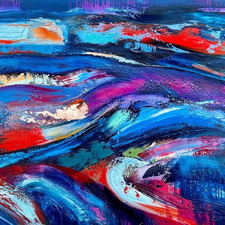 (CreativeWork) Feather in a Storm  by Dan Mason. Oil Paint. Shop online at Bluethumb.