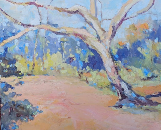 Outback landscape oil painting of Mutawintji National Park