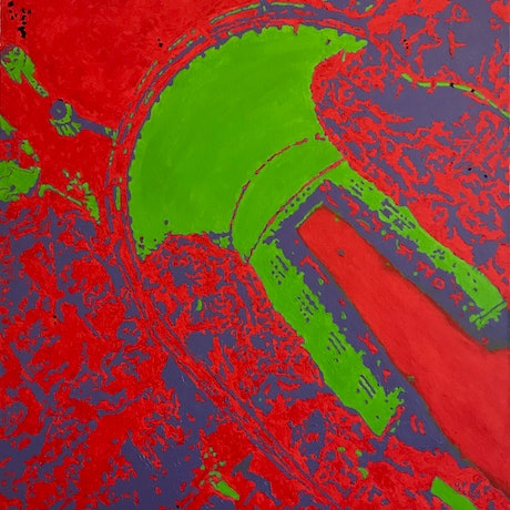 (CreativeWork) Hoover Dam by Yianni Johns. Oil. Shop online at Bluethumb.