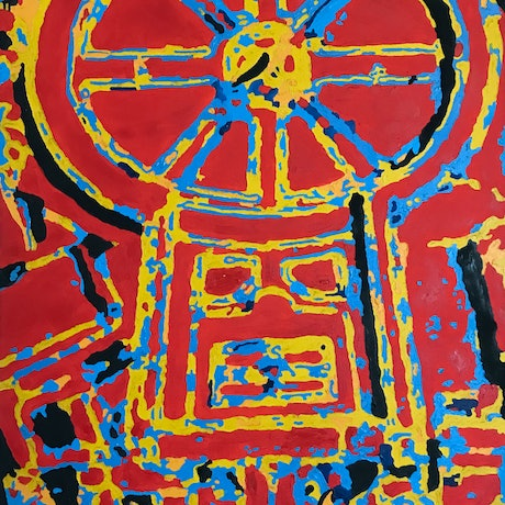 (CreativeWork) Saint Peter's Basilica  by Yianni Johns. Oil. Shop online at Bluethumb.