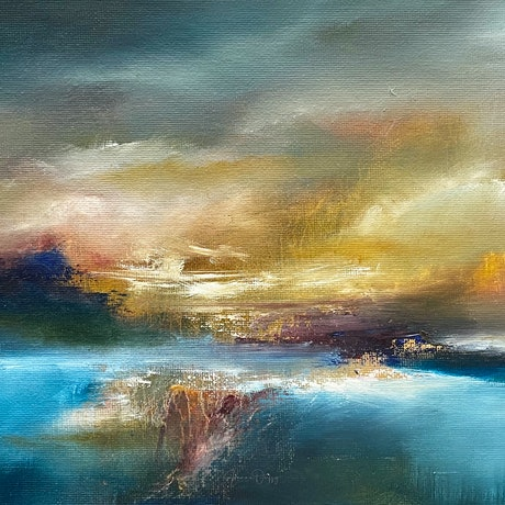 (CreativeWork) Bring on the Night by Joanne Duffy. Oil. Shop online at Bluethumb.