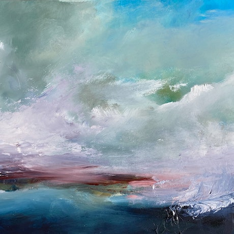 (CreativeWork) Promise of Blue by Joanne Duffy. Oil. Shop online at Bluethumb.