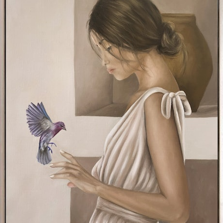 (CreativeWork) A Moment  by Ashley Bunting. Oil. Shop online at Bluethumb.