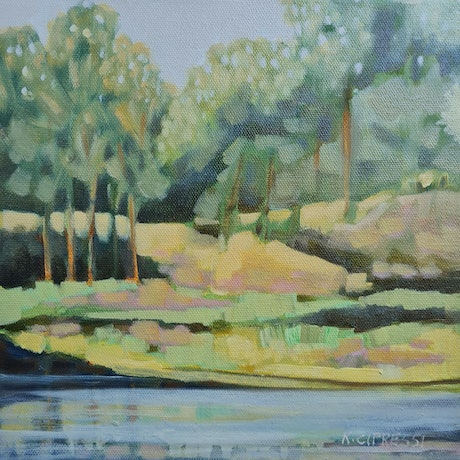 (CreativeWork) Oxley Common by Karen Cipressi. Oil. Shop online at Bluethumb.
