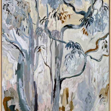 Eucalyptus trees in an expressionist style