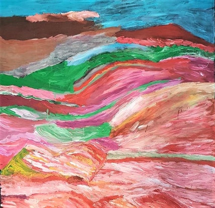 (CreativeWork) Amy Loogatha - Country (155-18) by Catherine Jaktman - Curator. Acrylic. Shop online at Bluethumb.
