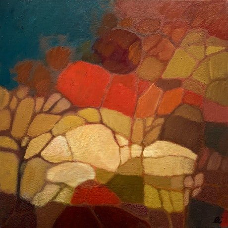 (CreativeWork) Ode to Cezanne by Louise Isackson. Oil. Shop online at Bluethumb.