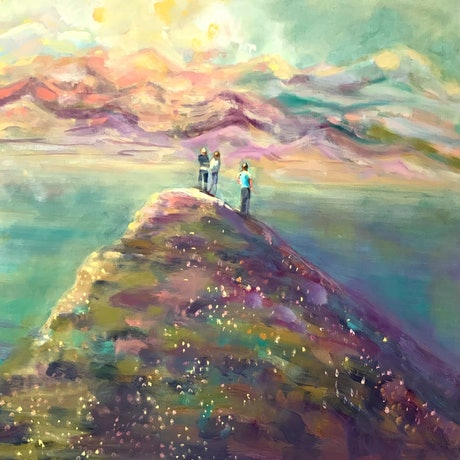 (CreativeWork) Seekers by Sara Roberts. Oil. Shop online at Bluethumb.