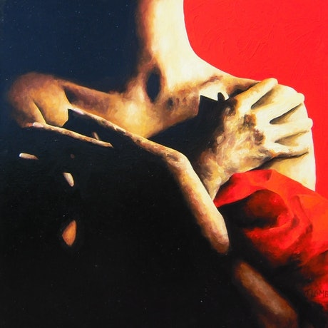 (CreativeWork) Into The Darkness by Trisha Lambi. Oil. Shop online at Bluethumb.