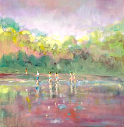 (CreativeWork) Lightness of Being by Sara Roberts. Oil. Shop online at Bluethumb.
