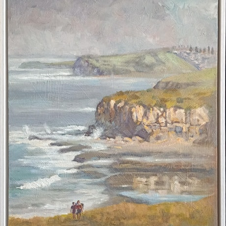 (CreativeWork) Gerringong NSW South Coast  (1139) by Marc Poisson. Oil. Shop online at Bluethumb.