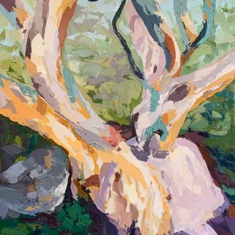 (CreativeWork) Back to Nature by Chris mercer. Oil. Shop online at Bluethumb.
