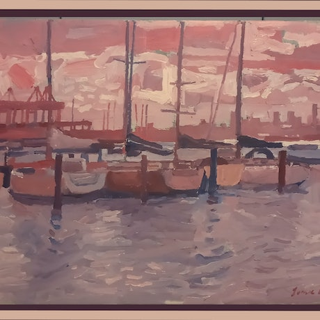 i painted this work as an excercise. its actually a traditional seascape