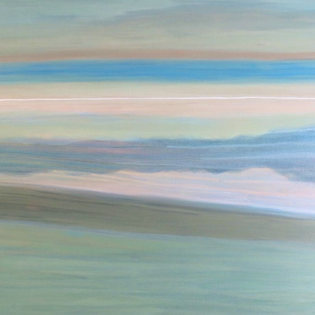 a subtle quiet painting to inspire serenity in an age of chaos