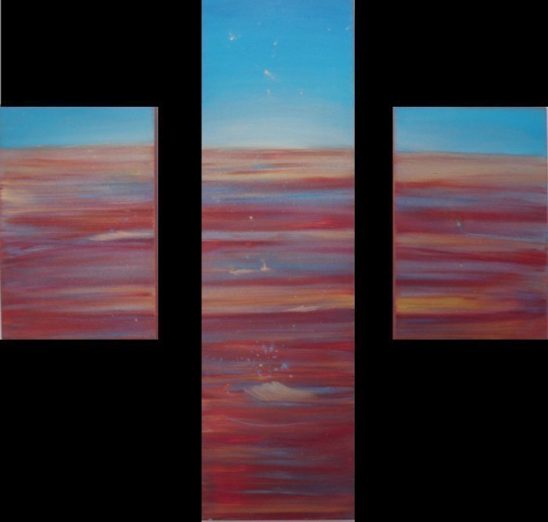 (CreativeWork) Morning Star by Jane Welsh. oil-painting. Shop online at Bluethumb.