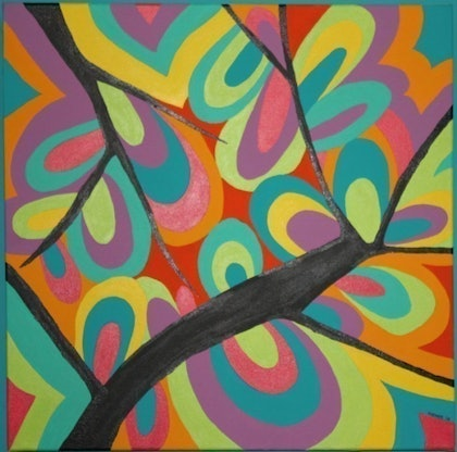 (CreativeWork) Flinders Leaves by Jodi Farmer. arcylic-painting. Shop online at Bluethumb.
