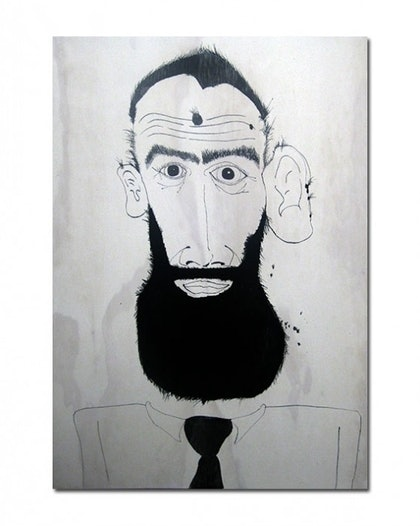 (CreativeWork) 14 Bearded men No. 15 by Benjamin Eckersley. other-media. Shop online at Bluethumb.
